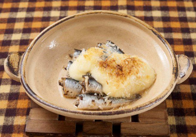 オイルサーディンのパン粉マヨ焼き