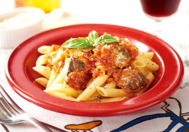 真いわしと野菜のペンネ トマトソース味