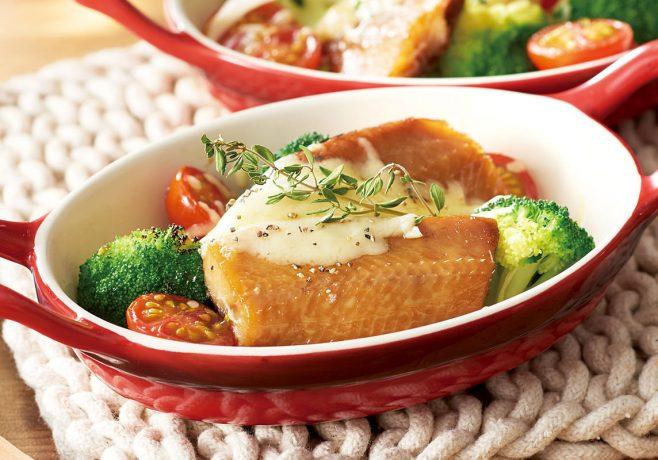 にしんの燻製と野菜のハーブグリル