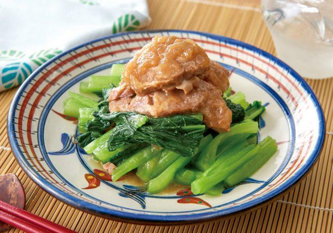 豚肉と小松菜の和風玉ねぎあん